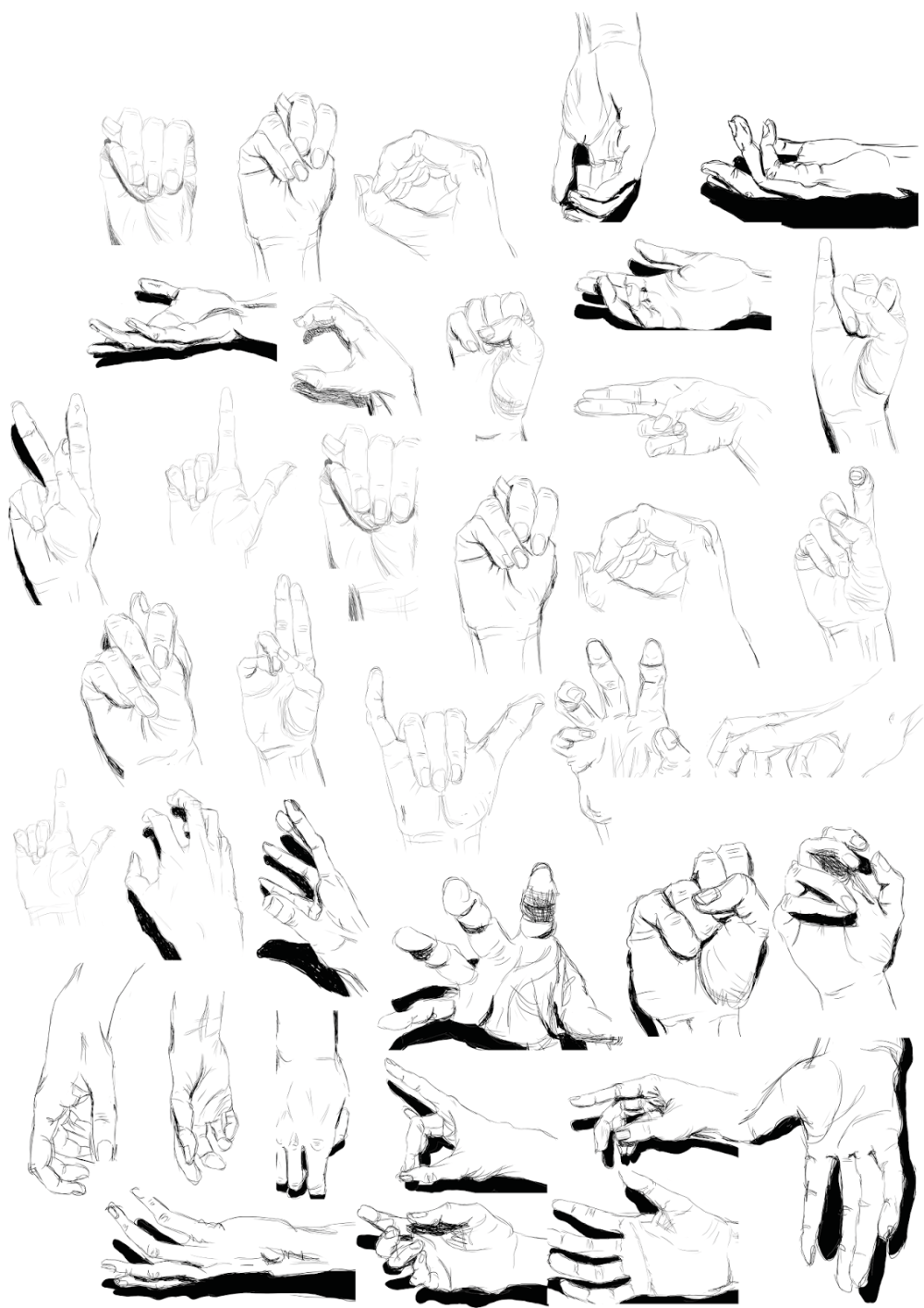 The second batch of hands I drew.